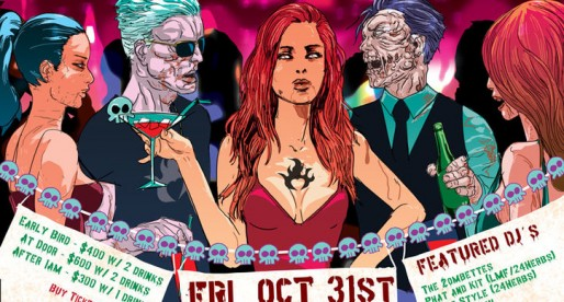 "7th Annual Dead Not Alive Halloween Party Features DJ duo ""The Zombettes"""