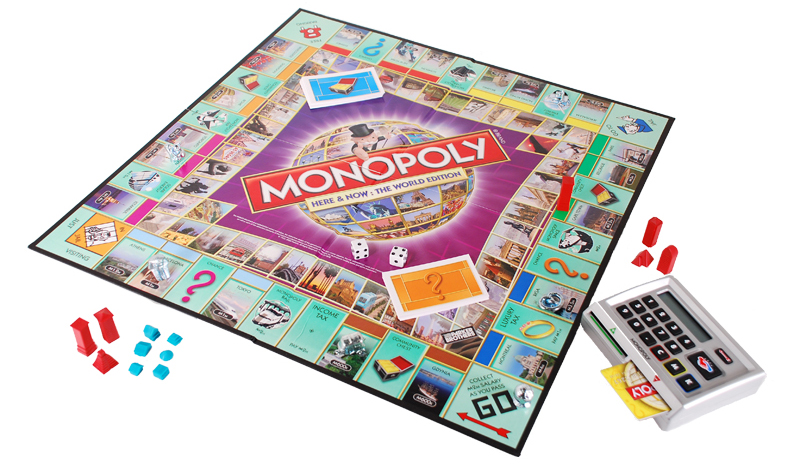 Buy monopoly here and now world edition board game by hasbro.